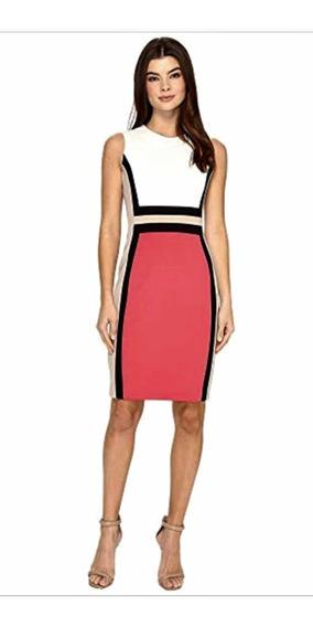 Hermoso Vestido Nuevo Calvin Klein Talla M-l