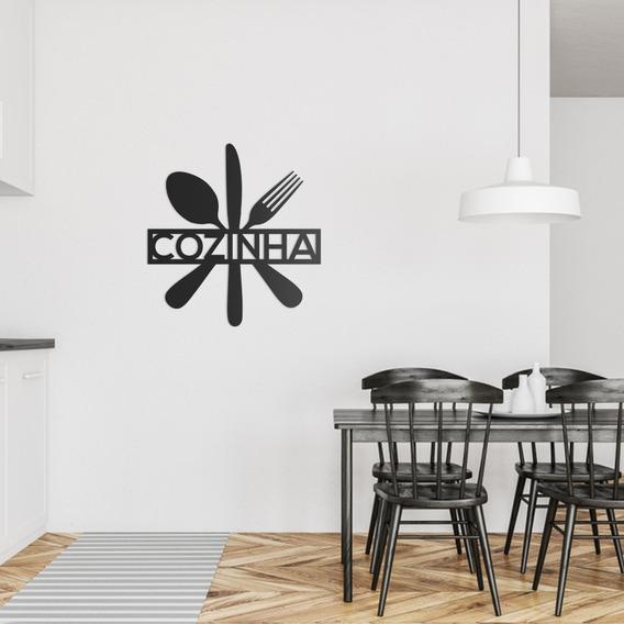 Quadro Decorativo Parede Cozinha Talheres 01 90cm