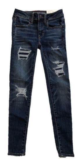 Jean American Eagle Nuevo, Super Super Stretch - Niñas