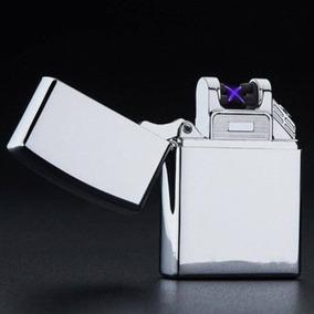 Isqueiro Plasma Elétrico Recarregável Cromado X Prova Vento