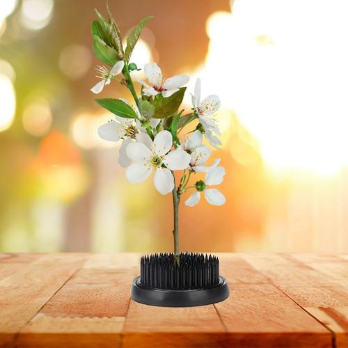 60mm Aguja Ikebana Kenzan Redonda Negra Aguja Negra Redonda Ikebana Kenzan Flor Pin Decoraci/ón Floral Herramienta de arreglo Fijo