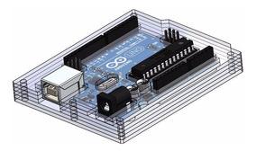 Case Caixa Arduino Uno 5 Camadas De Acrílico Transp.ma0147