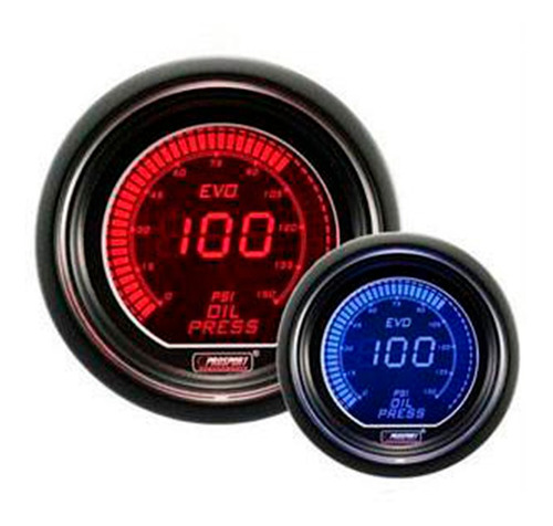 Reloj Presión De Aceite Electrónico 52mm Evo Ar Prosport
