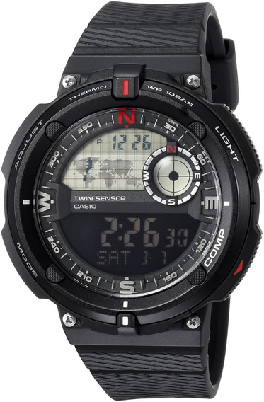 Relógio Casio Twin Sensor Sgw-600h-1bcf Original