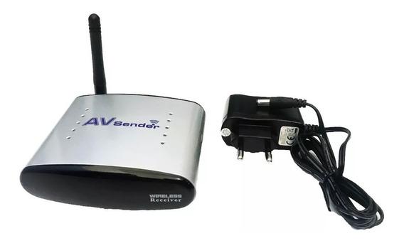 Receptor De Audio E Video Sem Fio Rca Av Wireless