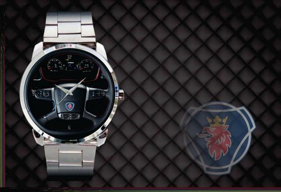 Relógio De Pulso Personalizado Painel Scania 2018 Caminhão
