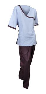 Conjunto Quirúrgico Lila Con Uva Pijama Y Pantalón Talla Xs