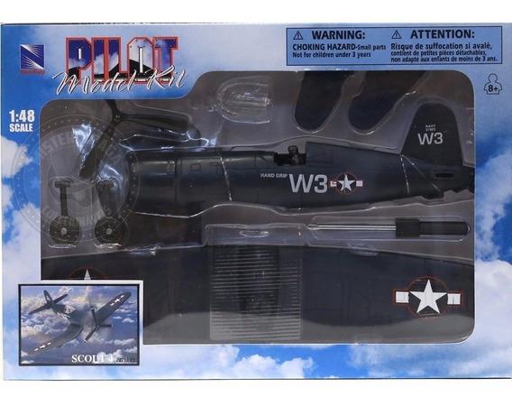 Kit Montar Avião De Combate Scout 4 Azul Candy Toys