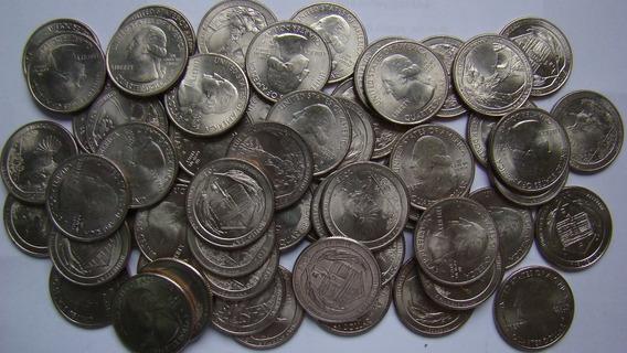 40 Quarenta Moedas 1 Quarter Dollares Separação Aleatórias