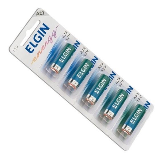 Pilha 12v A23 Controle Portão Alarme Cartela Com 5 Baterias