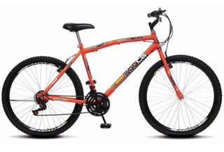 Bicicleta Aro 26 36r 18 Marchas Cb 500 Colli - Laranja