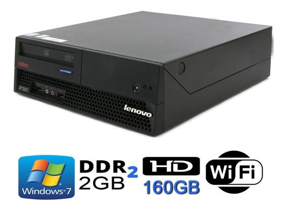 Cpu Lenovo Core2duo / 2gb Ddr2 / Hd 160 + Monitor 17