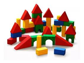 Blocos De Construção Em Madeira 40 Peças Brinquedo Educativo