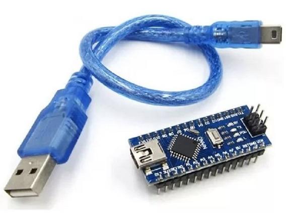 1 Pc Nano V3.0 Atmega328-compatível Com Arduino + Cabo Usb