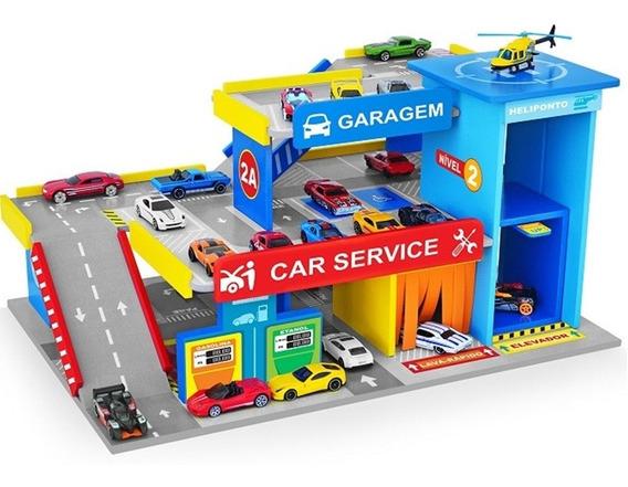 Car Service Postinho E Garagem Hot Wheels Brinquedo Junges