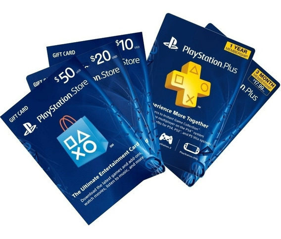 Tarjetas Psn Gift Card Play Station Usa $10 $20 $50 Y $100