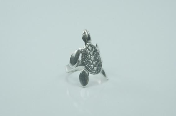Anel Tartaruga - Prata 925 Legítima Ótima Qualidade Novo