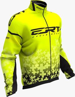 Corta Vento Ert Team Amarelo 2020 Ciclismo Lançamento Mtb