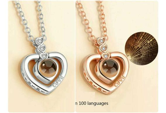 Collar Que Proyecta Te Amo En Muchos Idiomas Modelo 2