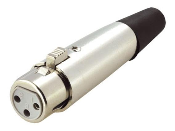 Conector Canon Xlr Hembra Audio Microfono Dmx Ficha 3 Pines