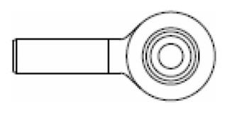 Extremo Estabilizador Cosechadora Deutz Derecha Diam14 P