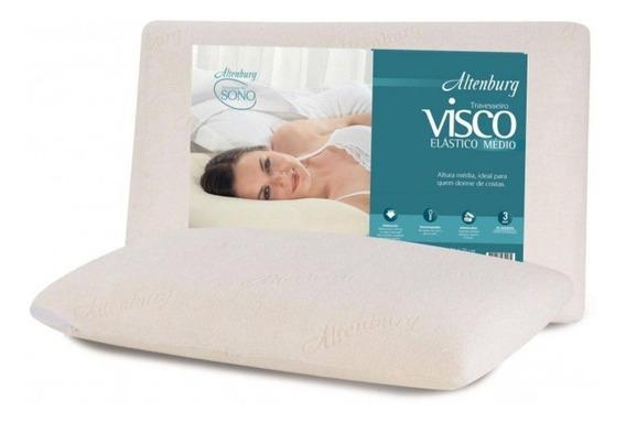 Travesseiro Nasa Viscoelástico Médio Altenburg Ultrafresh