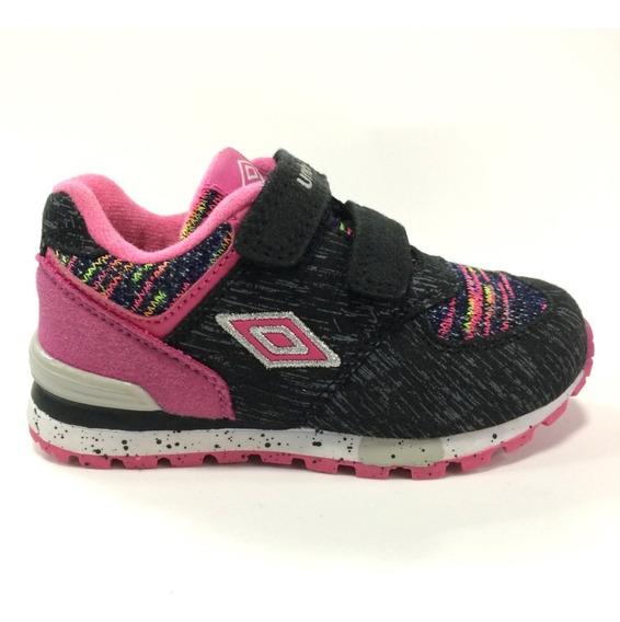 Zapatos Umbro Para Niñas - Um16586k - Blk Fucs Talla 24 A 28