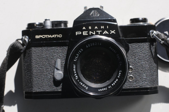 Pentax Spotmatic Preta Com Lente Takumar 50 Mm