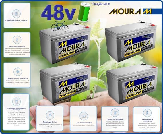 Kit4 Bateria Recarregavel Ebike 12v 9ah Bike Chronos Geral