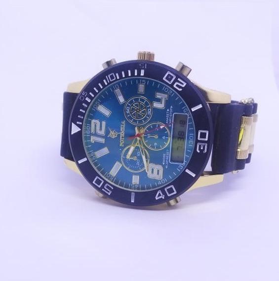 Relógio Masculino Luxo Militar Grande Barato