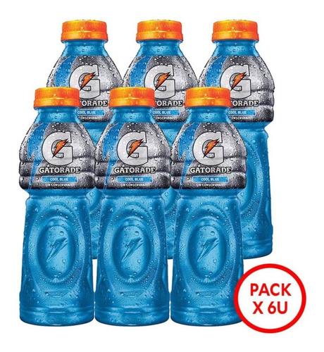 Imagen 1 de 5 de Gatorade Cool Blue 500ml Pack X 6uni