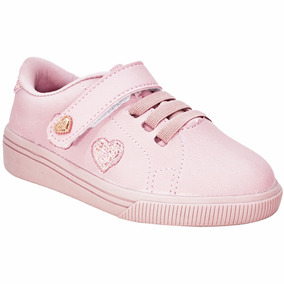 Tênis Infantil Kids Meninas Klin Ref225002000 Rosa
