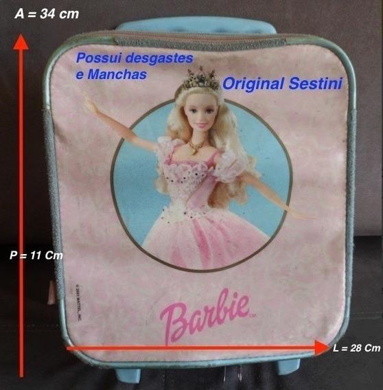 Mochila Escolar Barbie Original Sestini No Estado Veja Fotos