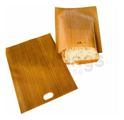 Pack X2 Bolsas Para Tostadora Reutilizables Sandwich Tostado