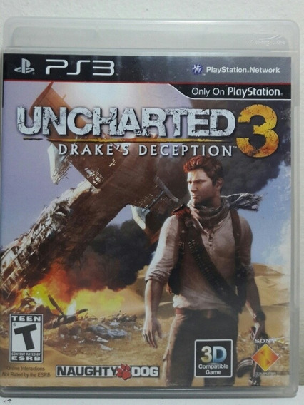 Dvd Jogo Uncharted 3 Game Ps3 Midia Fisica Original Bluray