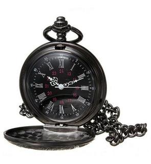 Reloj De Bolsillo Generico A Pilas Con Cadena Y Estuche
