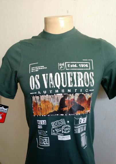Camiseta Masculina Os Vaqueiros Ref 0005 Verde