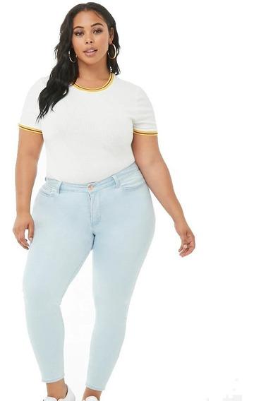 Skinny Jeans Forever 21 Plus Tiro Alto Especial Grande