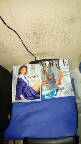 Revista Vogue Brasil E Elle 2016/ 02 Und.
