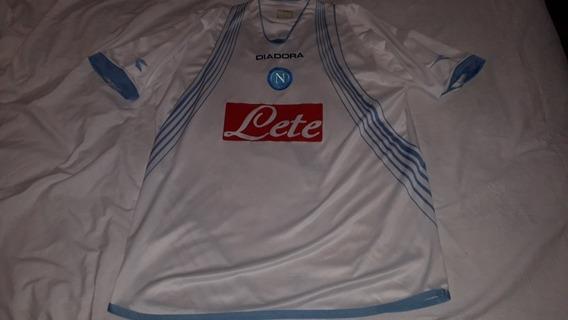 Camiseta Alternativa Club A Napoli Italia Diadora 2008 Xxl