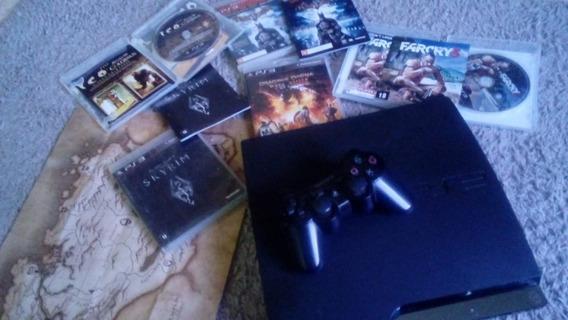 Playstation 3 Slim 500gb + Jogos Originais