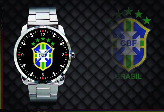 Relógio De Pulso Personalizado Cbf Brasil Copa 2018