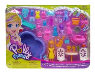 Polly Pocket! Fiesta En La Alberca, Mattel Bestoys