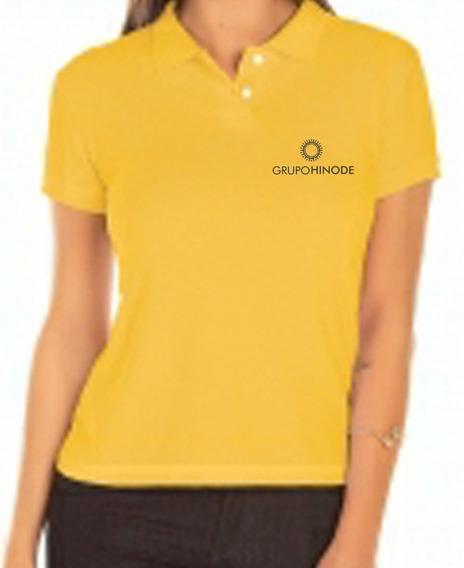 Camisa Polo Grupo Hinode Bordado Feminina