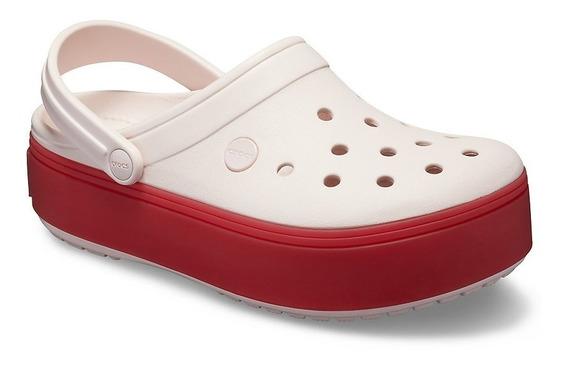 Crocband Plataforma Rosa Base Rojo Cuotas!!!