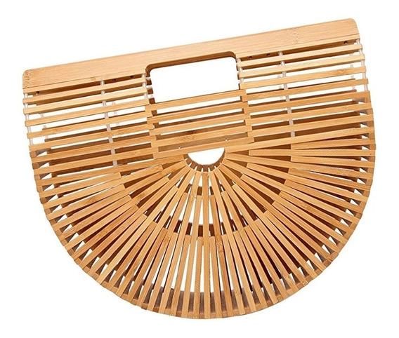 Bolsa De Bambu Natural Artesanal Tamanho G