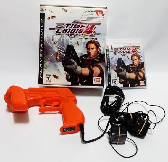 Time Crisis 4 Com Pistola Arma Guncon Completo Original Ps3