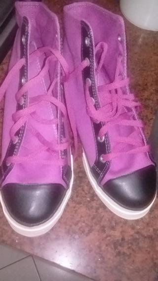 Zapatillas Botitas Topper Color Fucsia Y Negro Nuevas. Nª 40
