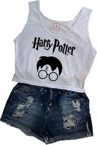 Blusa Harry Potter Camiseta Regata Feminina Blusinha Barato!