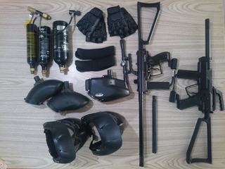 Kit (2 Personas) Gotcha Pistolas Spyder Mr1 Y Mr2